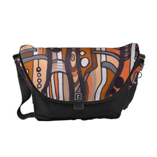Jazzy Abstract Earthtones Messenger Bag