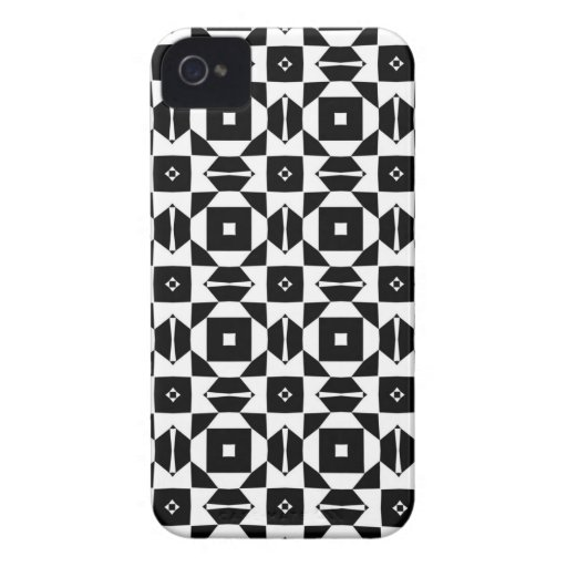 Jazzy Black and White Iphone 4/4S Case
