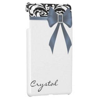 Jazzy Brocade Dusk Blue Bow Damask Mini Ipad Case