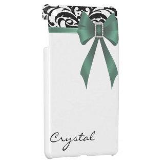 Jazzy Brocade Emerald Bow Damask Mini Ipad Case