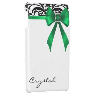 Jazzy Brocade Green Bow Damask Mini Ipad Case