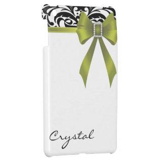 Jazzy Brocade Lime Bow Damask Mini Ipad Case