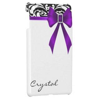 Jazzy Brocade Purple Bow Damask Mini Ipad Case