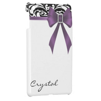 Jazzy Brocade Violet Bow Damask Mini Ipad Case