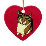 Jazzy Cat Heart Ornament