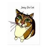 Jazzy Da Cat Postcard