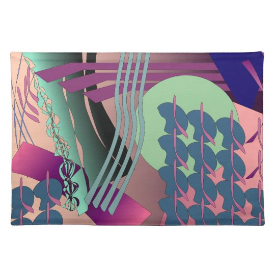 Jazzy Digital Abstract Painting American Mojo Plac Placemat