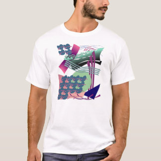 Jazzy Digital Abstract Painting T-Shirt