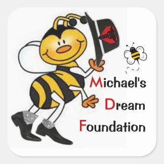 Jazzy Dream Bee Square Sticker