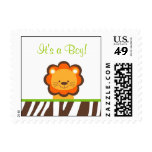 Jazzy Jungle Animal Personalized Postage Stamps