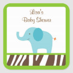 Jazzy Jungle Elephant Stickers Cupcake Toppers
