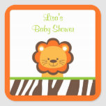Jazzy Jungle Lion Stickers Cupcake Toppers