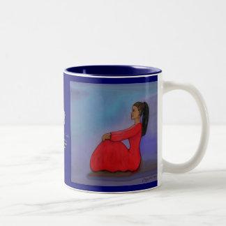 Jazzy Lady Two-Tone Coffee Mug