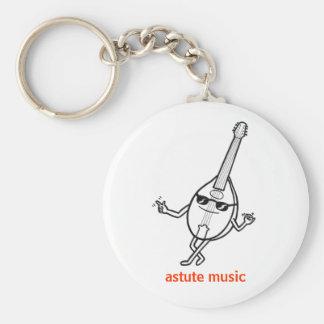 Jazzy mandolin keyring white keychain