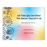 Jazzy Musical Bar Bat Mitzvah Invite reply card