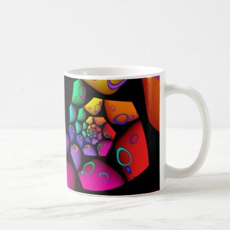 Jazzy Rainbow Fractal Coffee Mug