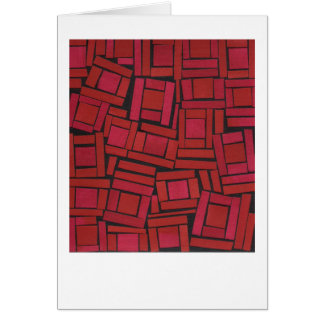 Jazzy red abstract pattern greeting card