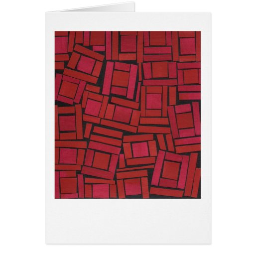 Jazzy red abstract pattern stationery note card