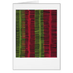 Jazzy red green abstract design stationery note card