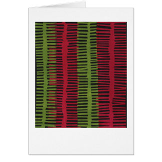 Jazzy red green abstract design card