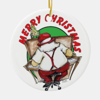 jazzy santa christmas ornament
