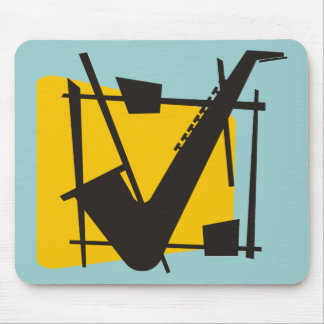 Jazzy Sax Mouse Pad