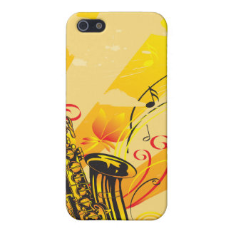 Jazzy Saxo Beams Of Music iPhone SE/5/5s Cover