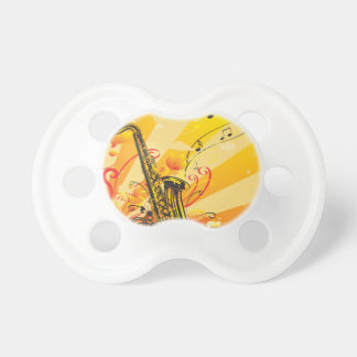Jazzy Saxophone Beams Of Music BooginHead Pacifier