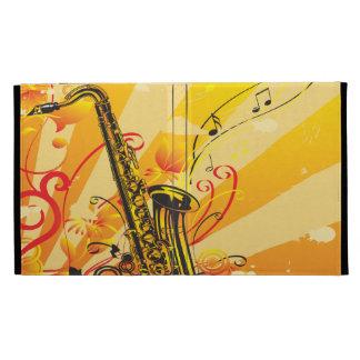 Jazzy Saxophone Beams Of Music iPad Folio Covers