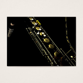 Jazzy Saxophone Business Card