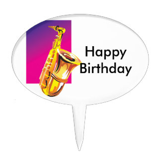 Jazzy Saxophone Cake Toppers