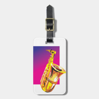 Jazzy Saxophone Bag Tags