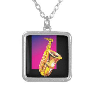 Jazzy Saxophone Personalized Necklace