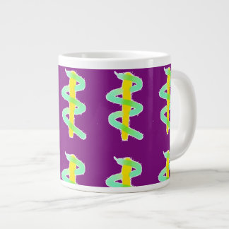 Jazzy Staff of Asclepius Medical Mug Purple