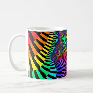 Jazzy Stripes Fractal Coffee Mug