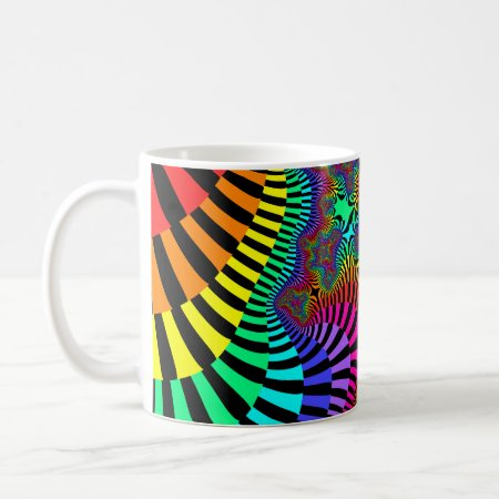 Jazzy Stripes Fractal Coffee Mug