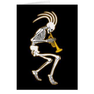 Jazzy Trumpeter Skeleton Card