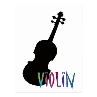 Jazzy Violin Postcard