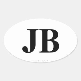 """JB"" Jacksonville Beach, FL Oval Bumper Stickers"