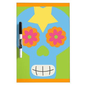 jc03 COLORFUL MEXICAN SKULL DECORATIVE CARTOON FLO Dry-Erase Board