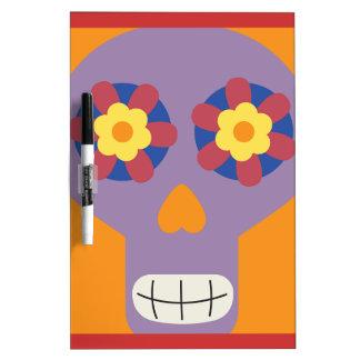 jc04 COLORFUL MEXICAN SKULL DECORATIVE CARTOON FLO Dry-Erase Boards