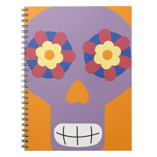 jc04 COLORFUL MEXICAN SKULL DECORATIVE CARTOON FLO Note Book