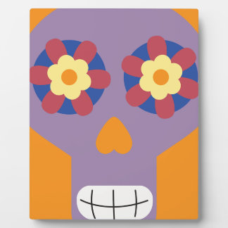 jc04 COLORFUL MEXICAN SKULL DECORATIVE CARTOON FLO Plaques