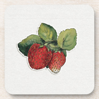 JC20 STRAWBERRIES STRAWBERRY CUT OUTS SCRAPBOOKING COASTER