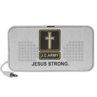 JC Army: Jesus Strong Laptop Speakers