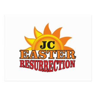 jc easter ressurection postcard