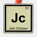 Jc - Jerk Chicken Chemistry Periodic Table Symbol Christmas Tree Ornaments