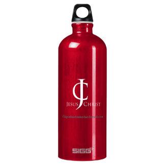 JC Jesus Christ Logo Christian Water Bottle