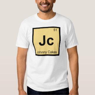 Jc - Johnny Cakes Chemistry Periodic Table Symbol T Shirts