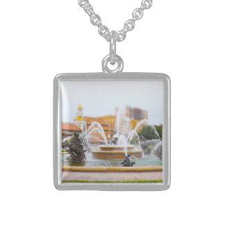 JC Nichols Fountain Country Club Plaza KC Personalized Necklace